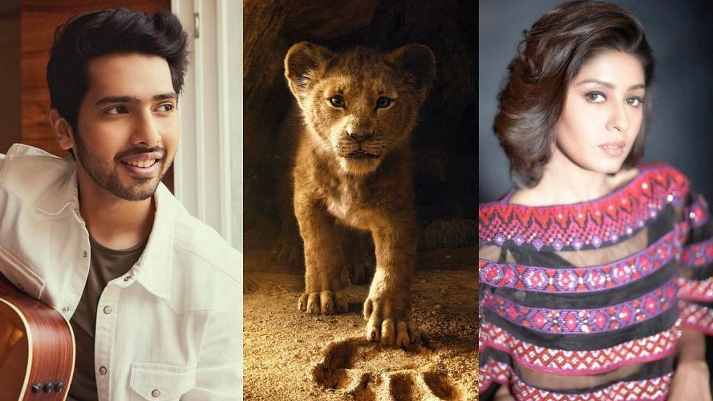 Armaan Malik (L) and Sunidhi Chauhan (R) will lend their voices to the Hindi version of Disney's <i>The Lion King</i>.