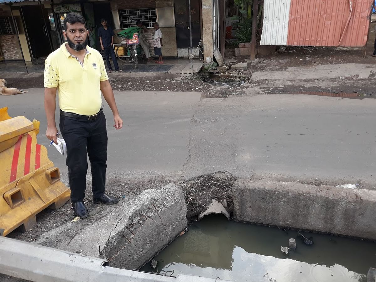 An open manhole at Mr Parsi Panchayat Road, Jogeshwari East.