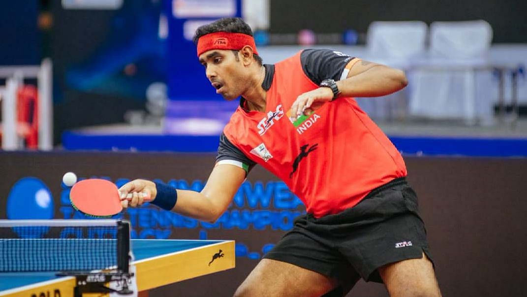 Second-seed Sharath Kamal squandered three match points and then the quarterfinal match against Singapore's Peng Yu En Koen.