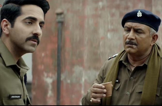 Ayushmann Khurrana and Kumud Mishra in the film 'Article 15'.