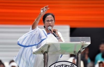Kolkata: West Bengal Chief Minister and TMC Supremo Mamata Banerjee addresses during party