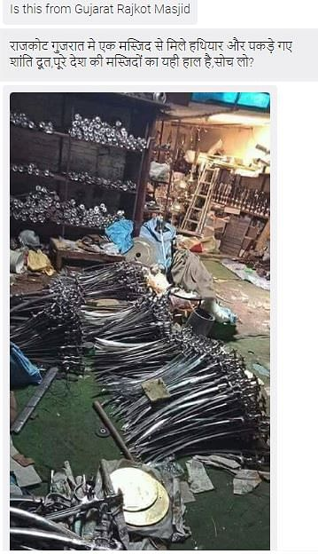 Kirpan Photo Passed Off as Weapons Seized From Mosque in Gujarat