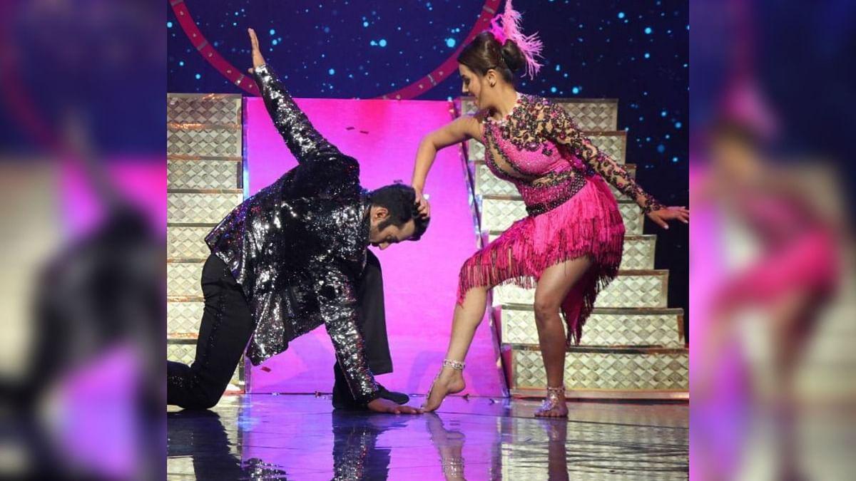Anita Hassanandani & Rohit Reddy Sparkle in  'Nach Baliye' BTS Vid