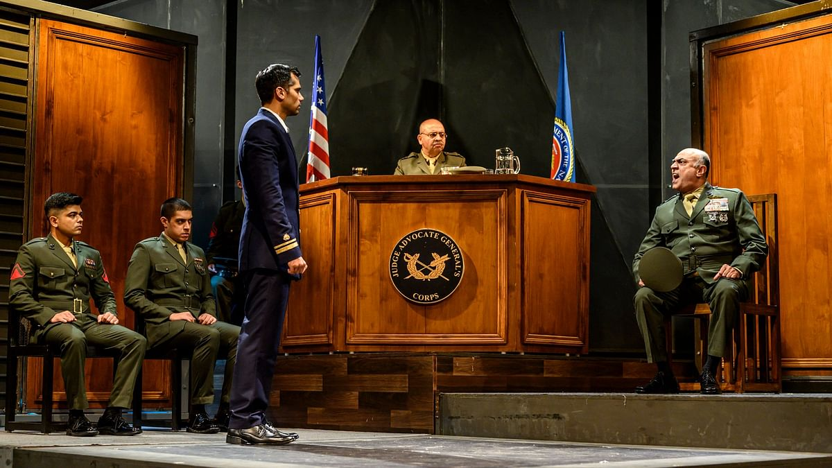 Lt.Kaffee and Col. Jessep in a face-off in an Indian adaptation of Sorkin's A Few Good Men