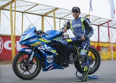 Ikshan Shanbag from Satara who grabbed the first position in the fourth season of Red Bull Road to Rookies Cup.