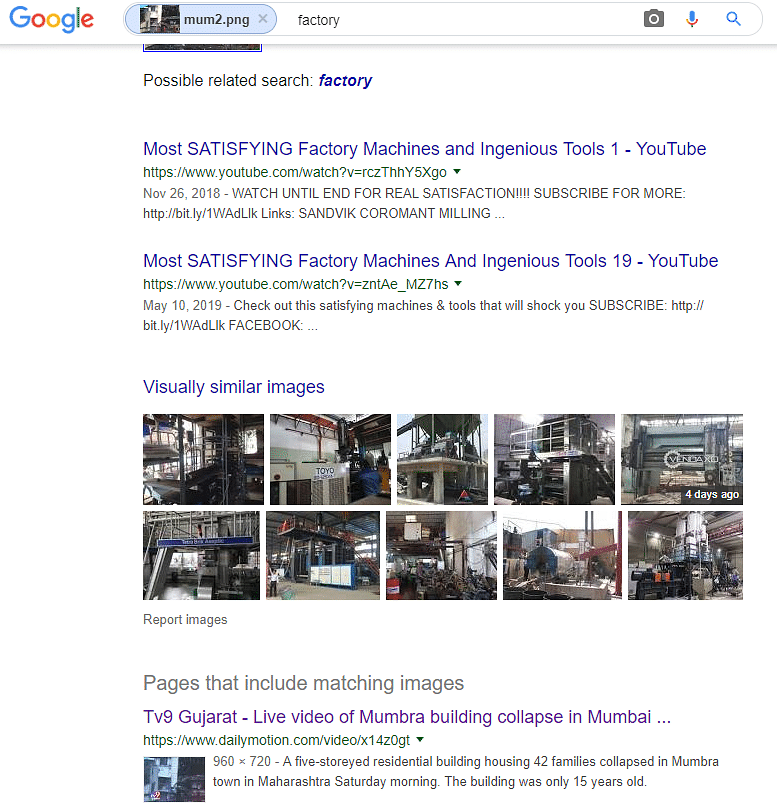 Google reverse image search suggested that the video was from Mumbra.