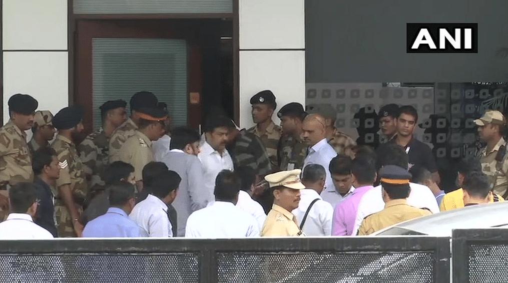 The rebel MLAs reach Mumbai's Chhatrapati Shivaji International Airport.