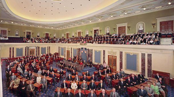 The United States Senate Chamber.