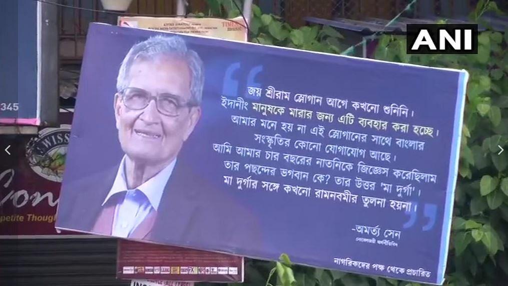 Amartya Sen's Remarks on 'Jai Shri Ram' Seen on Kolkata Billboards