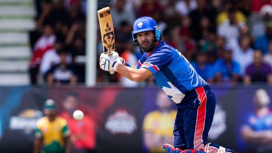 Former India all-rounder Yuvraj Singh scored a quickfire 21-ball 35 as his team Toronto Nationals posted a two-wicket win.