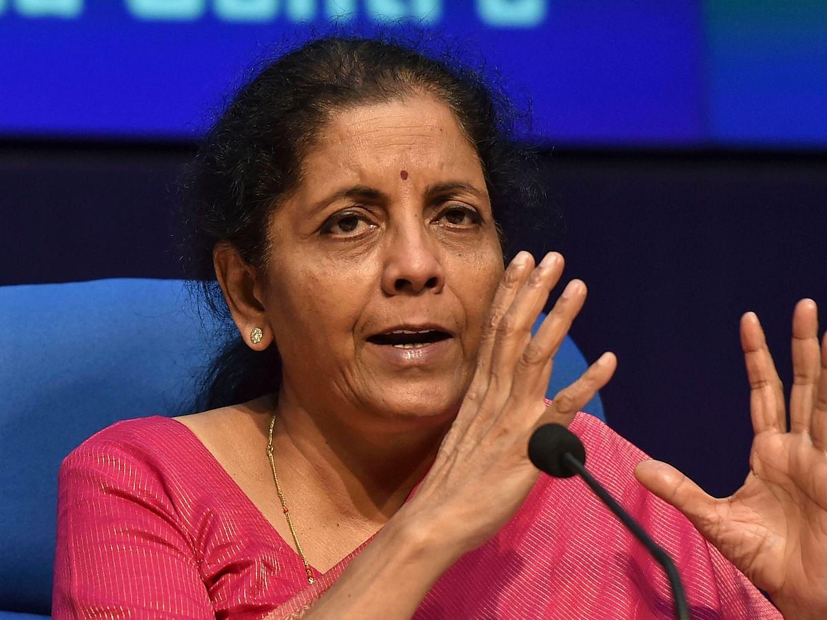 "<div class=""paragraphs""><p>File image of FM Nirmala Sitharaman.&nbsp;</p></div>"