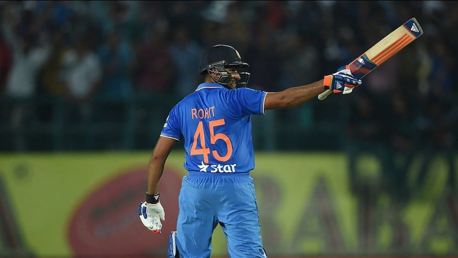 In the same match in which Rahul scored his maiden T20I ton, Rohit scored a defiant 62 .