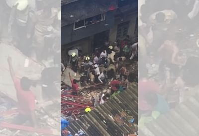 Mumbai: Rescue operations underway at Kesarbai building - a four-storey building that collapsed in south Mumbai
