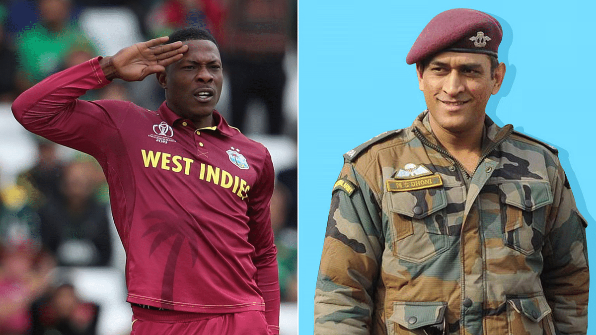 Windies' Cottrell Salutes Dhoni's 'Inspirational Love for Country'