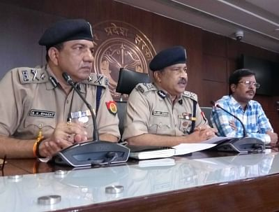 Lucknow: ADG Lucknow Zone, Rajiv Krishna addresses a press conference over the accident of the Unnao rape survivor, in Lucknow on July 29, 2019. Even as the