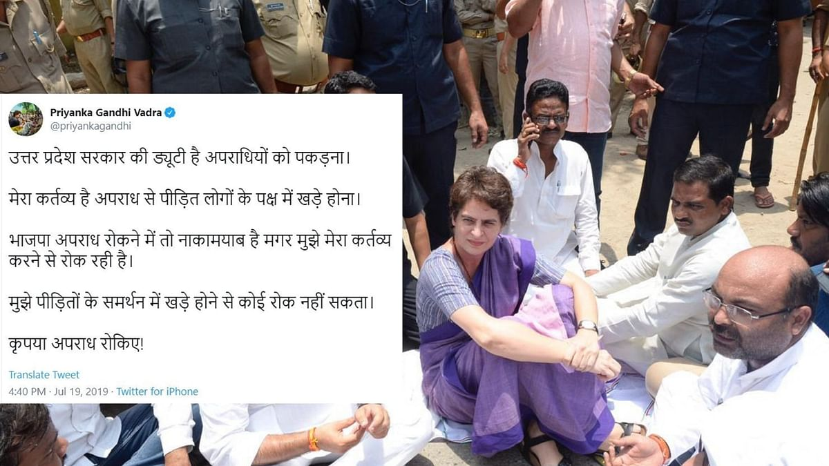 'Can't Stop Me': Priyanka After Being Detained On Way to Sonbhadra