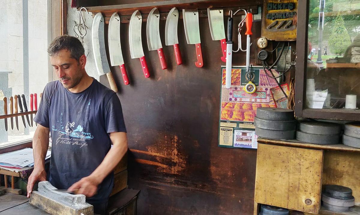 A knife store in Gaziantep.