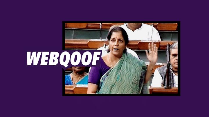 No, Sitharaman Didn't Say Demonetisation Had No Impact on Economy