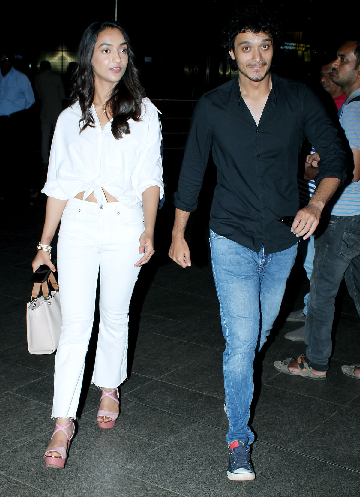 Namashi and Amrin were returning from a shooting schedule in Bangalore.