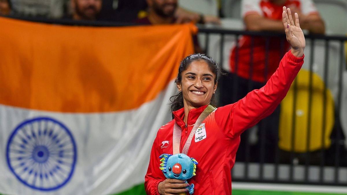 Vinesh Phogat won a gold medal at the 2018 Commonwealth Games.