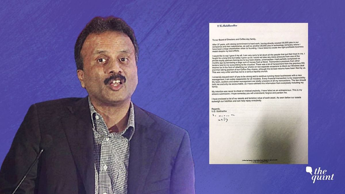 'I Have Failed': VG Siddhartha In Letter to 'Coffee Day Family'