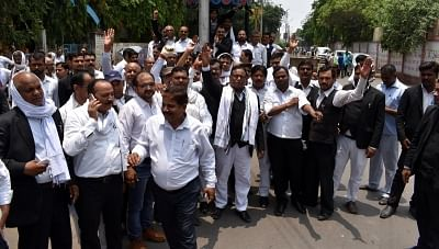 Over 3.5 lakh lawyers in UP go on strike. (Photo: IANS)