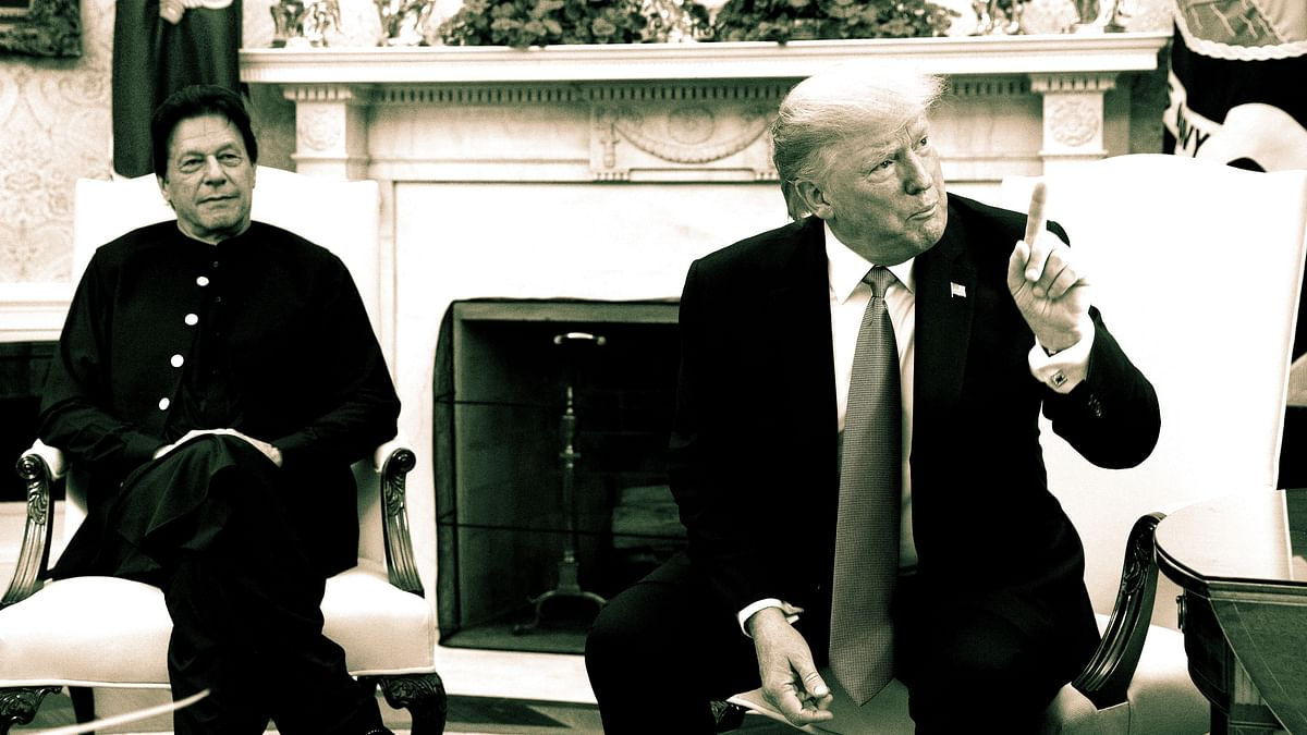 US President Donald Trump with Pakistan Prime Minister Imran Khan. Image used for representational purposes.