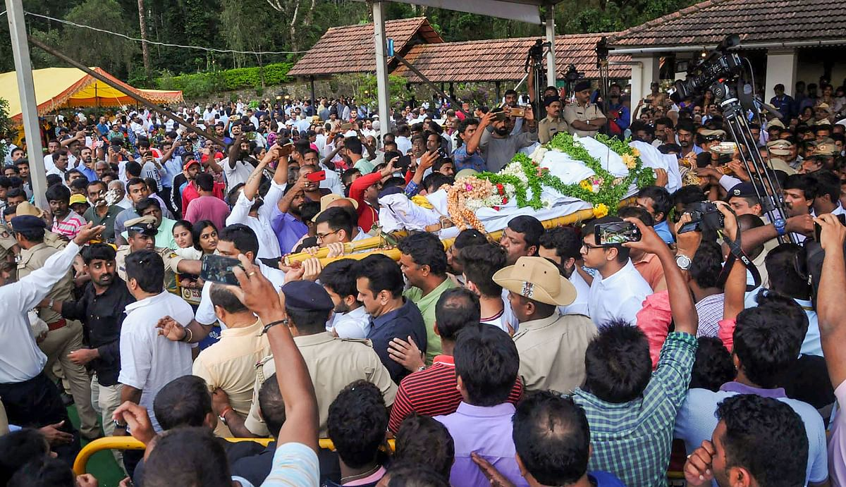 Siddhartha's body taken out for cremation