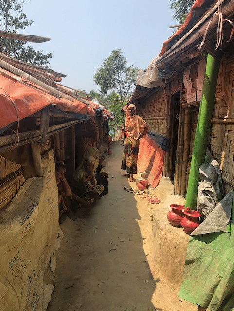 These women embody emancipation in it's truest sense. This is the women-led widow block known as Hakimpara, in Camp number 14. The households here are run by women. Most of their partners have been killed during the 2017 violence in Myanmar.