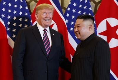 U.S. President Donald Trump (L) and North Korean leader Kim Jong-un. (Yonhap/IANS)