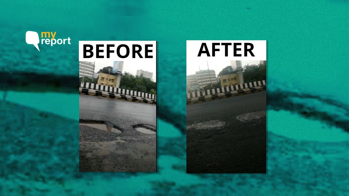 The pothole, which was about four-and-a-half metres long, was fixed within a day.