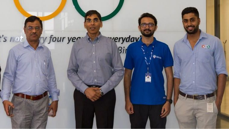 Sports secretary Radheysham Julaniya (second from left) has asked Badminton Association of India to come up with a dynamic plan to help the juniors.
