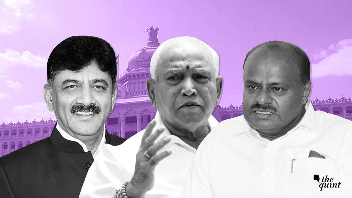 Congress' DK Shivakumar, BJP's BS Yeddyurappa and JD(S)' HD Kumaraswamy.
