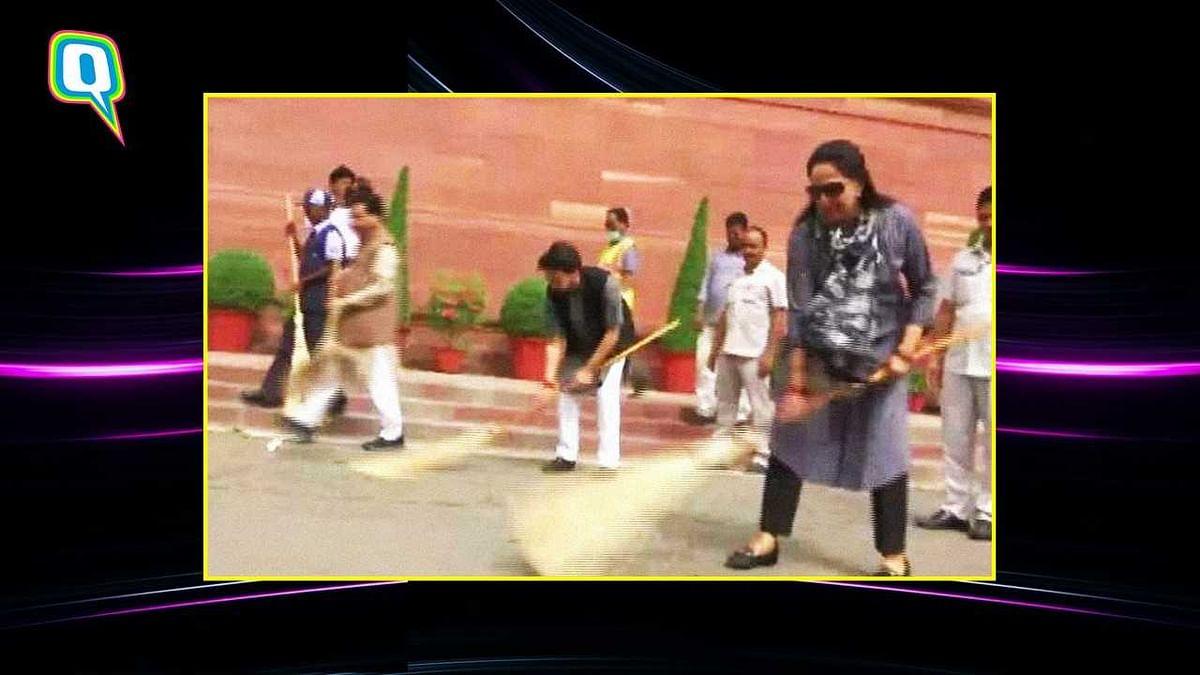 Hema Malini's Nimbus 2000: Twitterati on Her Swachh Bharat Abhiyan
