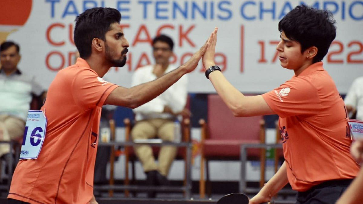 G Sathiyan and Archana Kamath defeated Singapore duo Peng Yu En Koen and Goi Rui Xuan 3-0.