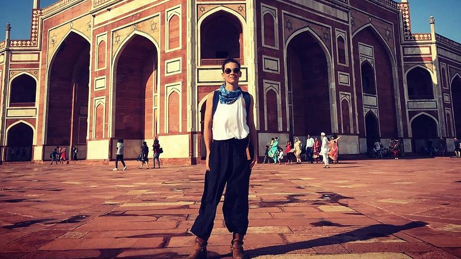 Evangeline Lilly at Humayun's Fort.