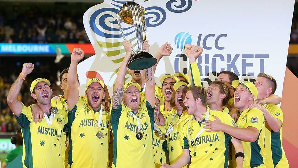 Australia's fifth WorldC up title became an almost foregone conclusion from the first over.