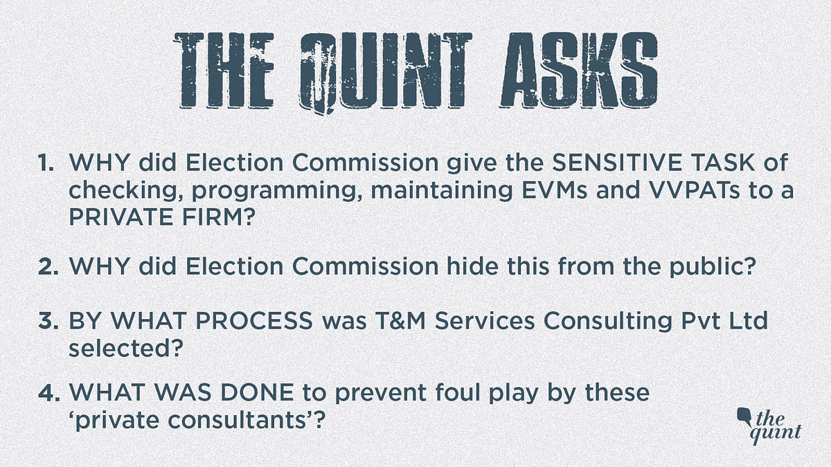 Pvt Consultants Involved in EVM-VVPAT Checks – Why Did EC Hide It?