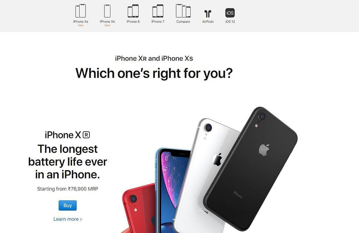 iPhone 6 and 6S are not listed on the Apple India website anymore.