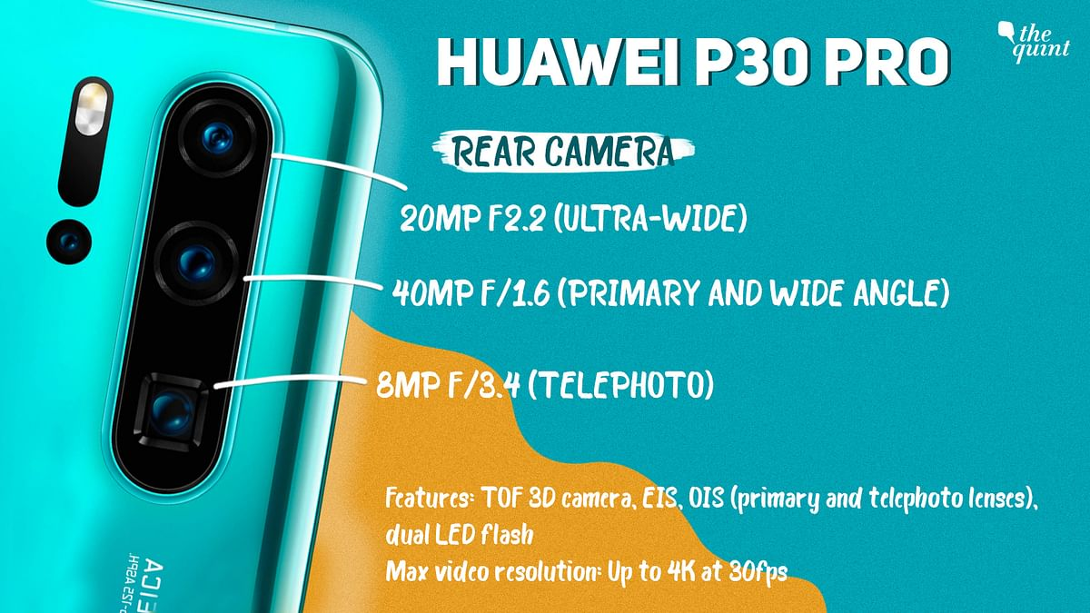 Huawei P30 Pro camera specifications