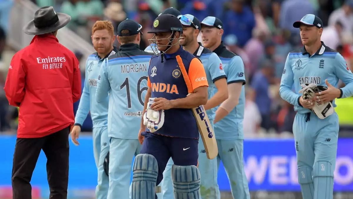England beat India in a must-win game to break India's unbeaten run at the World Cup.