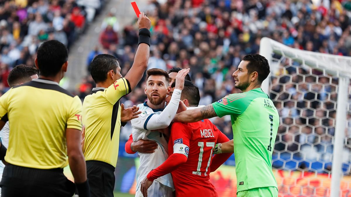 Argentina won 2-1 but Messi didn't show up for the medal ceremony to protest the refereeing.