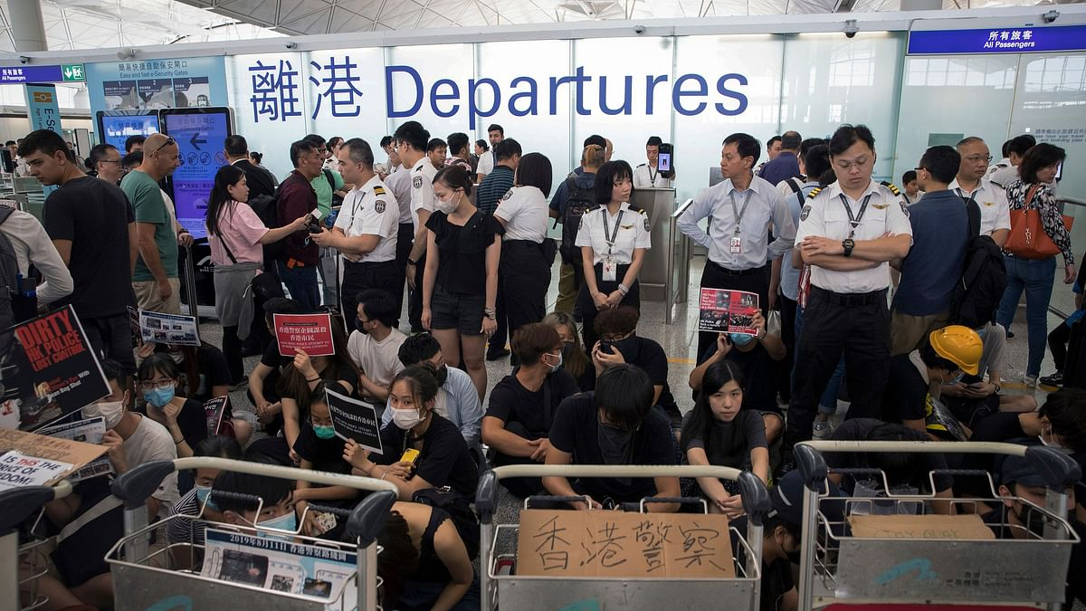 Flights Depart Hong Kong Airport on Schedule After Protest Chaos