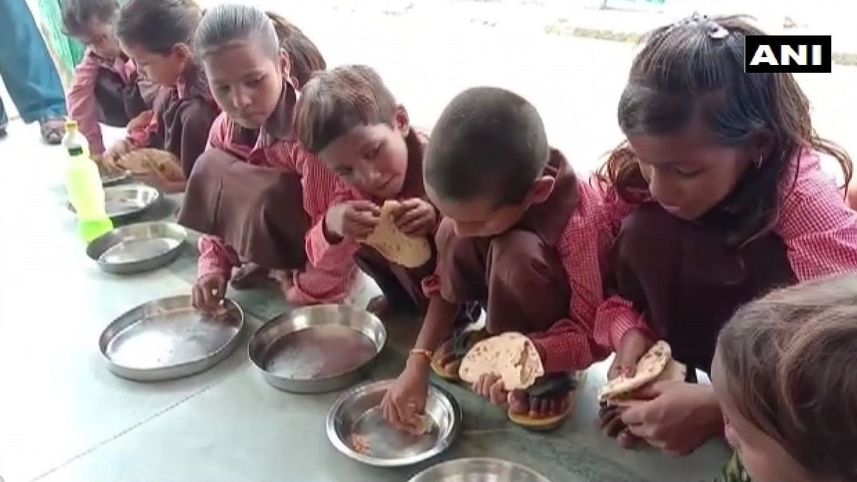 UP Primary School Students Served Rotis and Salt as Mid-Day Meal