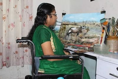 Differently-abled artists render colours of freedom