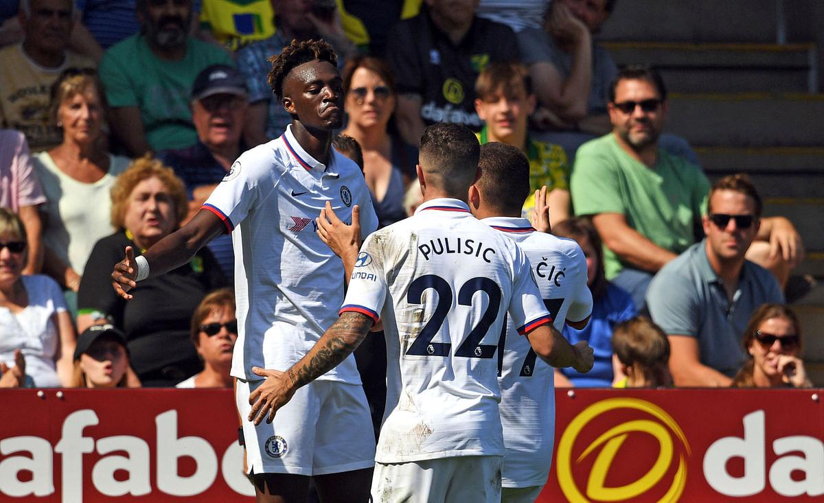 Tammy Abraham scored twice as Chelsea beat Norwich 3-2 in the Premier League.