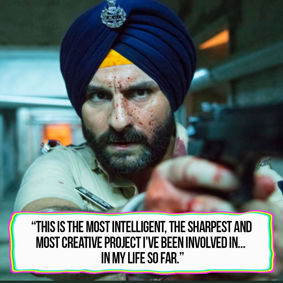 We can't imagine anyone else as police inspector Sartaj Singh.
