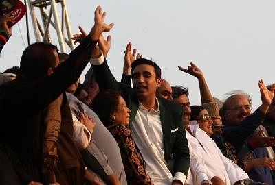 Bilawal Bhutto Zardari (C).