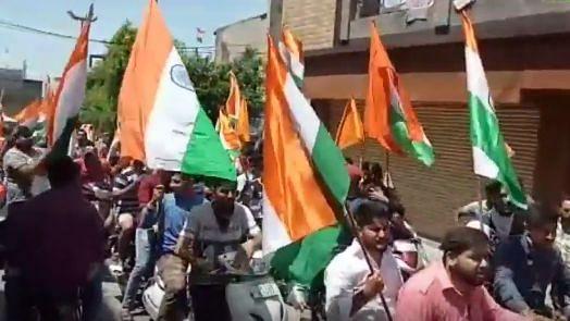 Bajrang Dal Holds Celebratory 'Akhand Bharat' Bike Rally in Jammu