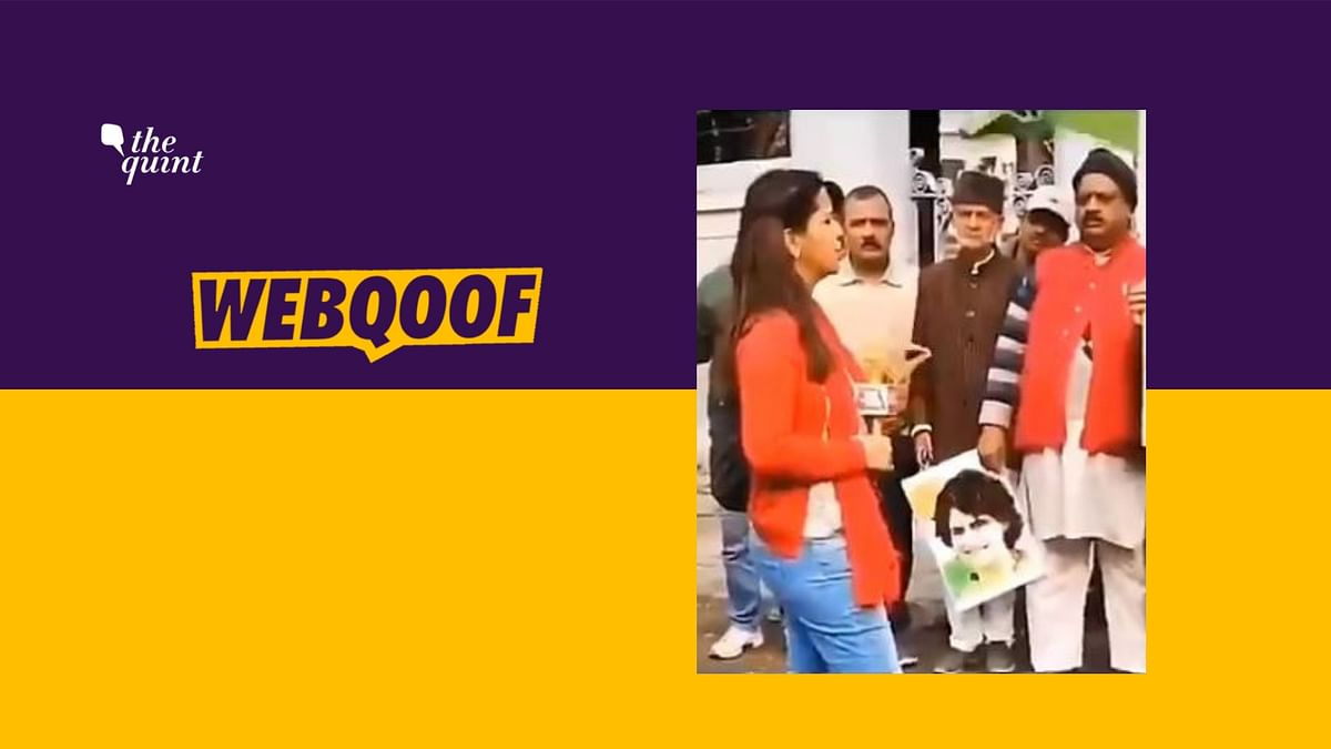 Old Video of Reporter Shared as Staging Anti-Modi Sloganeering
